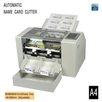 automatic paper cutting machine - A4 Automatic business card slitter High precision name card cutting machine business card cutter CE aprroval photo paper cutter