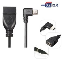 b stock phones - 0 Degree Right Angel Mini USB B pin Male to USB A Female Data Sync Charge OTG Cable For MP2 MP4 GPS Cell Phone in stock