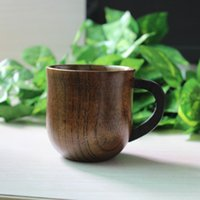 Wholesale Classic solid wooden water drinkware ml for tea milk juice coffee mug Chinese handmade cups vintage healthy tea tableware