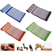 acupressure pain relief - 2016 Health Care Pain Relief Acupuncture Massager Cushion for Shakti Acupressure Yoga Body Massage Mat