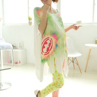 Wholesale Green Color Summer Short Sleeve D Print Maternity Tees Pregnancy Tops Cotton Modal Maternity Clothes For Pregnant Women