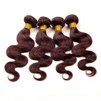 acid wine - Rosa Hair Products A Brazilian Burgundy Hair Weave Bundles Wine Red Burgundy Body Wave Brazilian Human Hair Extensions