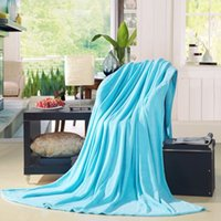 Wholesale Chuvivi Twin Size Bedroom Bedding Sofa Polyester Throws Blanket Warm Soft Sky Blue x cm