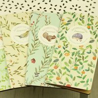 Wholesale 24pcs vintage kraft paper notepad animal print notebook forest life stationery school supplies students k line