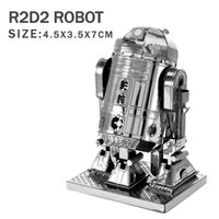 building products - 2016 NEW Star Wars model D metal puzzles DIY Jigsaws R2D2 X Wing TIE Fighter Robot Puzzle models Product