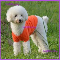 apparel candy - Cotton Pet Dog Clothes Apparel Cute POLO T Shirt Size XS S M L XL color candy colorful polo for dog