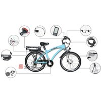 Wholesale Easy DIY W Electric Bicycle Kit With Battery Electric Bike Refit E Bike Motorized Wheel Disc V Brake Moped CKRC02