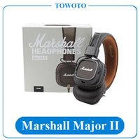Cheap Marshall Major II Version 2 Headphones Mic iOS Android Headset High Quality With Good Packaging Boxes Go With Sealed Plastic IN STOCK