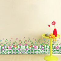 Removable PVC Plant 50*70cm Wall Stickers DIY Art Decal Removeable Wallpaper Mural Sticker for Kids Bedroom Bathroom AM7110 Romantic Garden