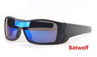 Vente en gros Haute Quantité 20pcs / lot Mode Big Cadre marque Batwolf Sport Hommes Lunettes de soleil, DX9101