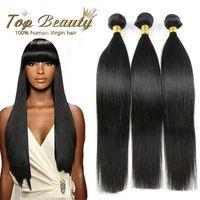 Wholesale Brazilian Virgin Hair Straight Bundles Straight Brazilian Hair g pc Human Hair Extensions Unprocessed Virgin Hair
