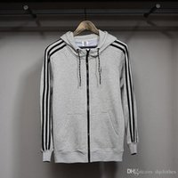 Wholesale Autumn And Winter Men s Sports Full Zip Hoodie Fleece Classic All match Cardigan Sweatshirt Hot Products