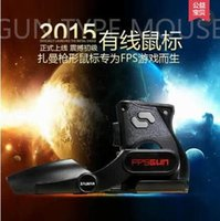 Wholesale New Korea ZALMAN FG1000 Gaming Mouse creative FPS Shooting gun model Professional game optical wired mouse dpi for computer PC