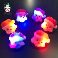 Wholesale New Creative LED flashing rings led Christmas Toys Santa clause rings children s finger lights flash toys A01