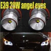 al por mayor luz antiniebla bmw e39-El envío libre 2016 NUEVO el poder más elevado de 2 pares 40W llevó los ojos del ángel del marcador para la lámpara de la niebla de los ojos del ángel del bmw E39 E39 E60 E63 E65 E53 X3