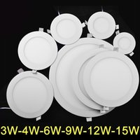 Wholesale 3w w w w w w LED panel light smd led light led round lights Led ceiling downlight AC85 V energy saving