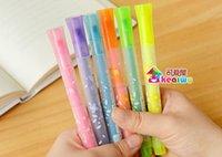 Wholesale 1pcs Korea stationery five pointed star chirography neon pen watercolor pen marker pen