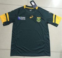 Wholesale DHL world cup South Africa rugby jerseys Best Quality green Rugby Shirt from S to XXXL