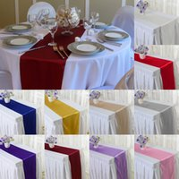 Wholesale x250cm Fashion New Satin Table Runner Natural Party Wedding Decoration colors Y1S1