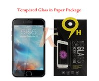 Wholesale Galaxy S7 Iphone Screen Protector LG LS LG G Stylo Galaxy S6 Tempered Glass Note Protecter Screen With Paper Package