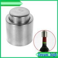 Wholesale Red Wine Bottle Stopper Silver Elegant Stainless Steel Vacuum Wine Stopper Saver Preserver Pump Sealed Sealer