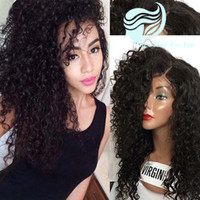 Wholesale Full Density Brazilian Kinky Curly Lace Front Human Hair Wigs For Black Women Glueless Full Lace Wigs Bleached Knots