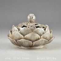 antique hammered copper - Chinese Silver Include Copper Vintage Hand Hammered Old Flower Incense Burner