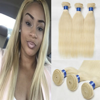 Cheap Indian Blonde Straight Human Hair Bundle Deals 3Pcs Pure Color #613 Platinum Bleach Blonde 8A Indian Straight Cheap Weave kilala Hair