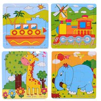 Wholesale Educational d Wooden Jigsaw Puzzles Toys Free Kids Baby Games Toy Wood Puzzles For Children Cartoon Learning Education Toys