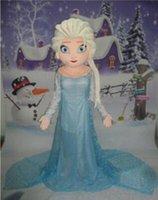 2015 nouveau style Elsa mascotte costume princesse de bande dessinée elsa réalisation costumes costumes de mascotte de marche pour taille adulte