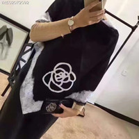 Wholesale Luxury Cavier scraf Silk Scarf Long winter Style Ladie Cashmere Silk Scraf Famous brand double logo for Women with Floral