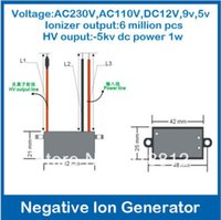 Wholesale AC12V Output kv dc ionizer density million home air purifier anion generator