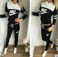 Wholesale New Fashion Women Sportswear Printed Letter Fall Tracksuits Long sleeve Casual Sport Costumes Mujer Piece Set jogging suits size S XL