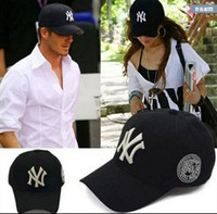 army navy hats - Baseball Cap NY Embroidery Letter Sun Hats Adjustable Snapback Hip Hop Dance Hat Summer Outdoor Men Women White Black Navy Blue Visor