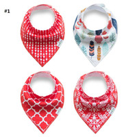 Wholesale Baby bandana bibs White cotton baby bib New Dribble towel bibs triangle Infants Burp Cloths Feeding Scarf Fashion