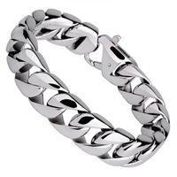 bangle high polish - Fashion Titanium Steel Men Bracelets Punk High Polished Wristbands Bangle Pulseras Classic Jewelry Brace lace cm cm