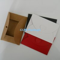 bank envelopes - cm Colorful Kraft Paper Mini Heart Buckle Envelope Personalized Envelop For Business Card VIP Bank Debit Card Packaging