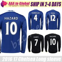 adult soccer clubs - Hazard Long Sleeve jersey KANTE Thai Quality Soccer Long Sleeve Jersey PEDRO Adults Football shirts Club Full Jerseys