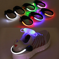 Wholesale 2016 Bright Luminous LED Shoe bike Lights Clip Warning Lamp Safety Reflective Light fits Night Walking Running bike Outdoor activities