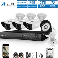 Wholesale A ZONE Stock in US Channel p Security Cameras System W x HD MP waterproof Indoor Outdoor CCTV surveillance Camera with TB