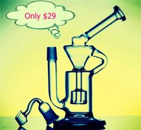 bending brass pipe - Cheap Bong Portable Glass Water Pipes with Joint mm Dome Nail Glass Bongs Oil Rigs Recycler Honeycomb Spiratual Bong