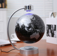 Wholesale 20 dhl free new magnetic floating inch globe display racks with rotating