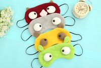 Wholesale Unisex Cartoon Funny Sleeping Eye Mask Cute Anti Snoring Blindfold Sleeping Shade Cotton Cover Blinder