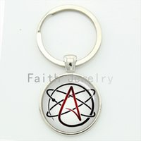 alloy atoms - Atheist atom symbol key chain fashion atheist logo keychain atheism movement jewelry personalized women atheist gifts KC523