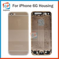 Wholesale Full Housing Back Battery Cover Middle Frame Metal For iPhone Gray Gold Sliver Replacement Part Free DHL Shipping