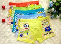Wholesale Children Underwear Boxer Shorts Fit Years Kids Baby Cartoon Minions Panties Clothing