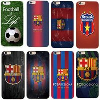 barcelona plastic cover - New FCB Barcelona football team badge Series Protective Phone Cases Cover Para Capa For Apple iPhone s s SE c S plus Plus Funda