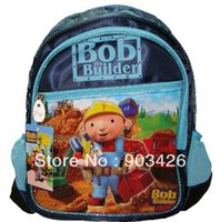 Wholesale by DHL UPS High Quality Bob Builder Children s School Bag Rucksack Cartoon School Backpack G2329