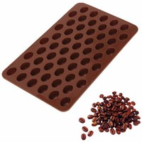 baked beans - Hot Sale Coffee beans Cake Tools Fondant Kitchen Bakeware Silicone Metal Non Stick Cupcake Baking Tray Mousse Coffee Cake Mold