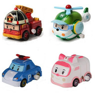 Wholesale Zorn Toys Korea Robocar Poli Poli Amber Roy Helly Spring Team Car Plastic Safe Toy Children Gift